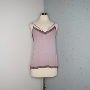 American Eagle | Pink Strappy Ribbed Tank Top